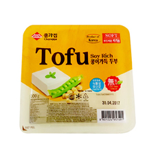 KR CHONGGA Soyrich Tofu for Stew - Soft 12x300g