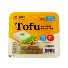 KR CHONGGA Soyrich Tofu for Frying - Firm 12x300g